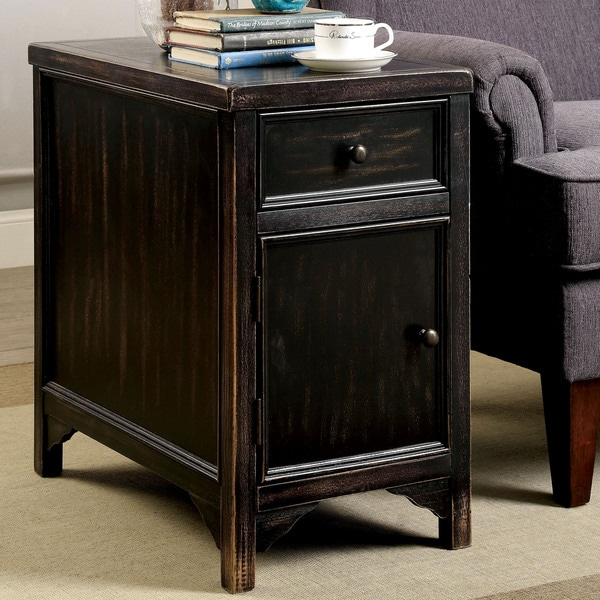 Furniture of America Cosbin Bold Antique Black Side Table. Furniture of America Cosbin Bold Antique Black Coffee Table   Free