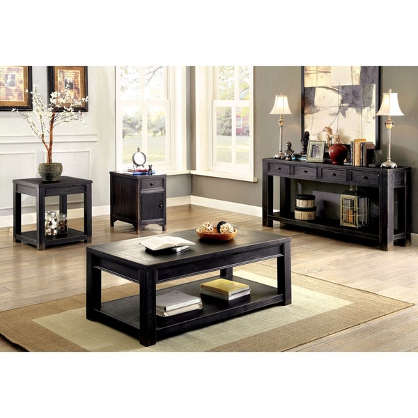 Furniture Of America Cosbin Bold Antique Black Side Table   Free Shipping  Today   Overstock.com   18417456