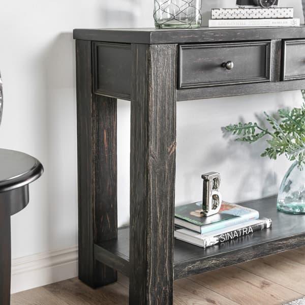 Shop Furniture of America Cosbin Bold Antique Black 4-drawer ...