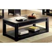 Furniture of America Cosbin Bold Antique Black Coffee Table