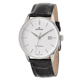 Edox Men's 70172-3A-AIN Leather Watch