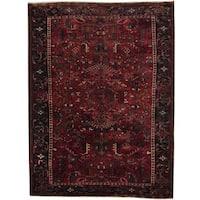 Handmade Herat Oriental Persian 1940s Semi-antique Heriz Wool Rug (Iran) - 8'2 x 10'11