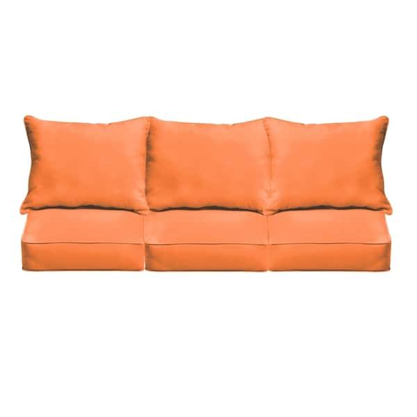 Sloane Bright Orange Indoor/ Outdoor Corded Sofa Cushion Set