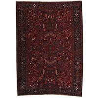 Herat Oriental Persian Hand-knotted 1940s Semi-antique Heriz Wool Rug (8' x 11'3) - 8' x 11'3