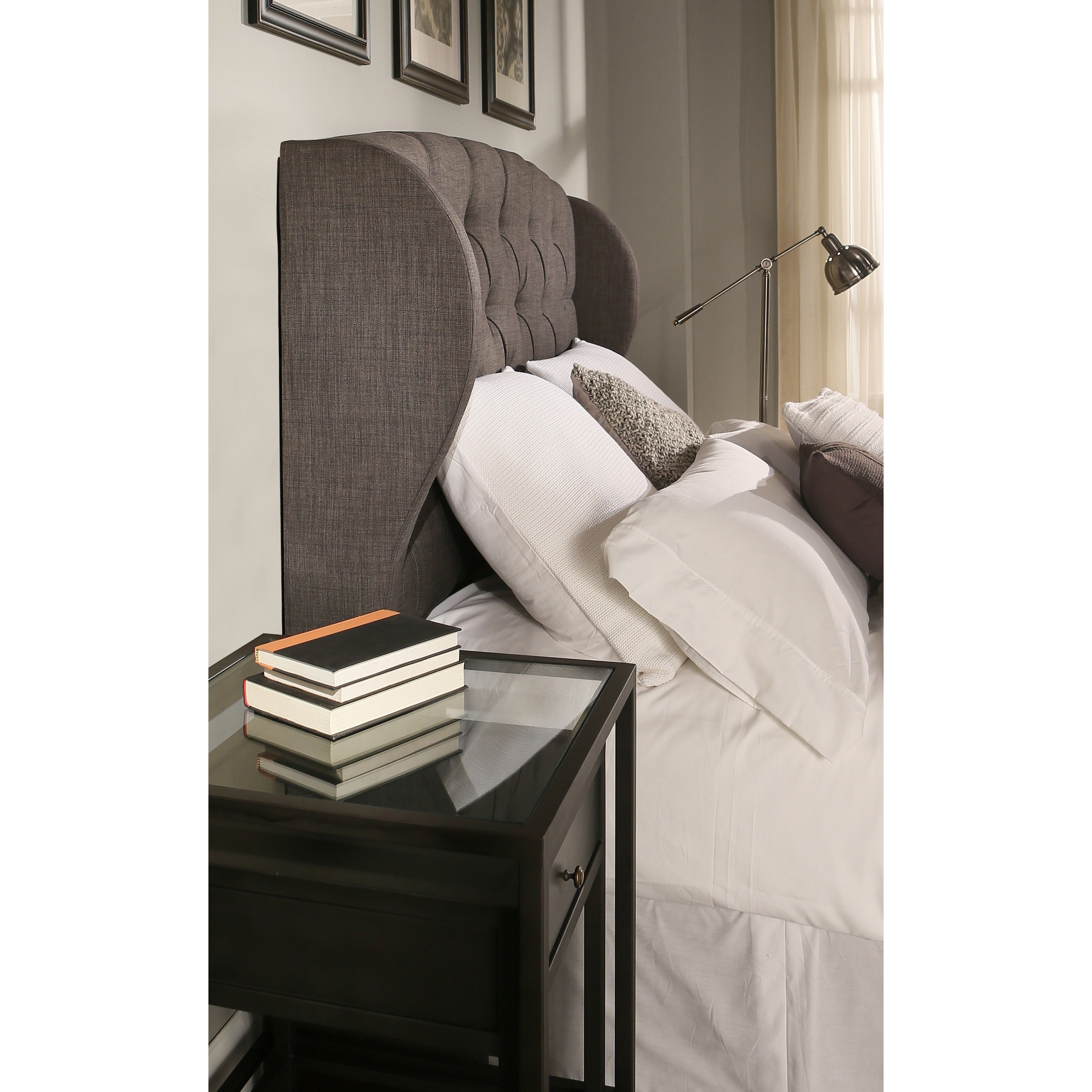 Republic Design House Archer Grey Tufted Upholstered Headboard Padded Bench Collection Overstock 11460025