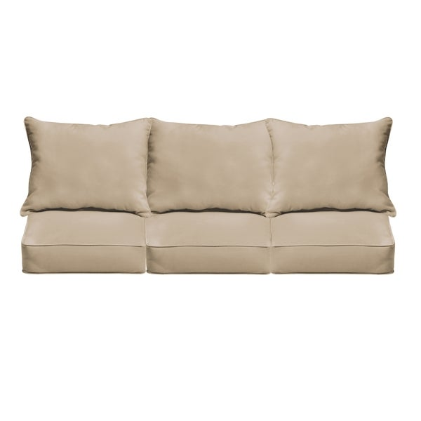 Shop Sloane Beige Indoor/ Outdoor Corded Sofa Cushion Set