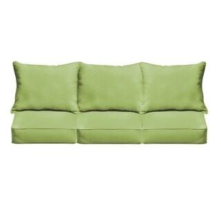 Sloane Apple Green Indoor/ Outdoor Corded Sofa Cushion Set