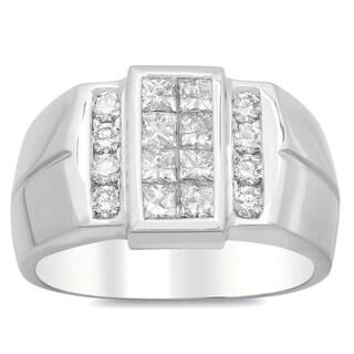 Artistry Collections 14k White Gold Men's 1 3/5ct TDW Diamond Ring (E-F, VS1-VS2)