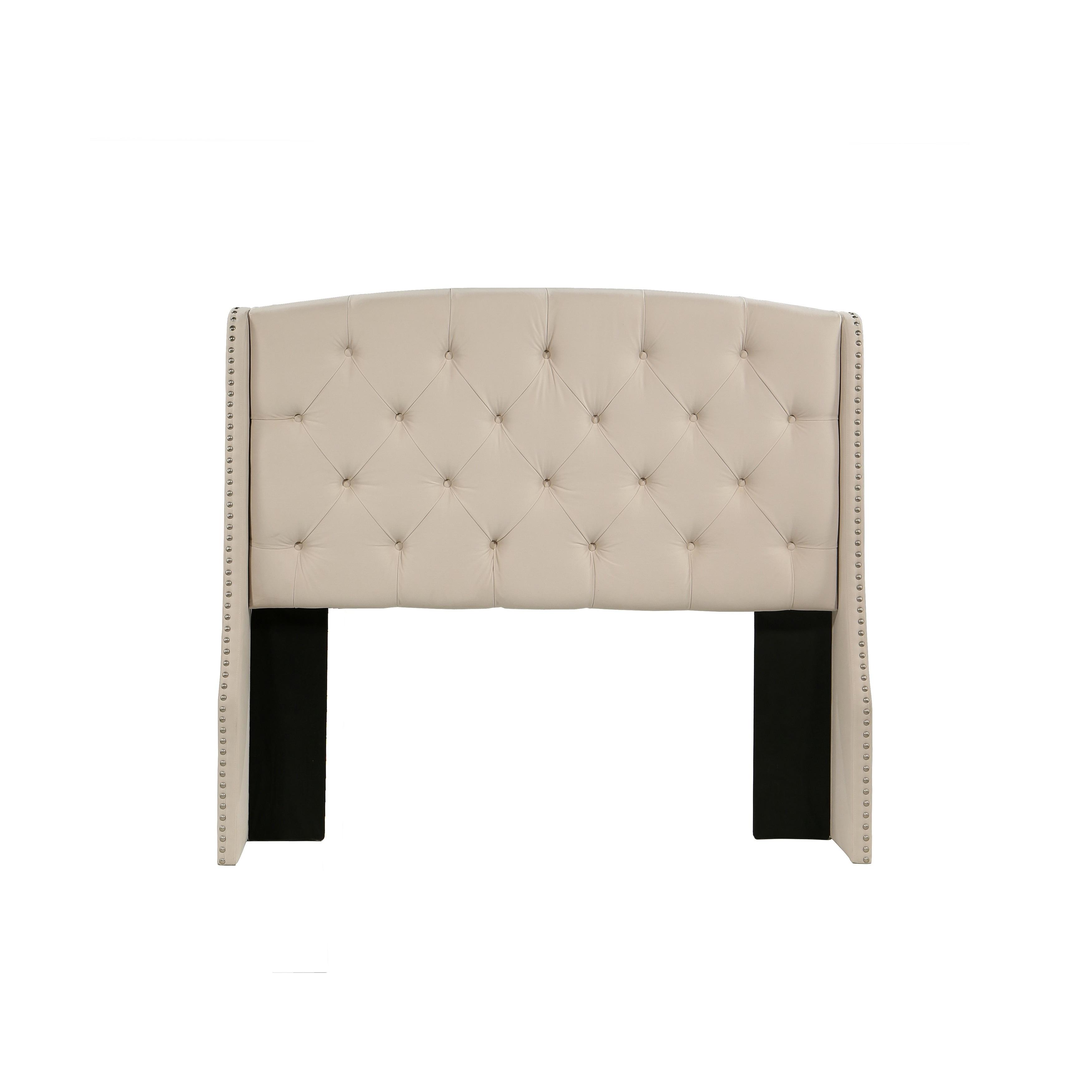Republic Design House Peyton Ivory Tufted Upholstered Hea...