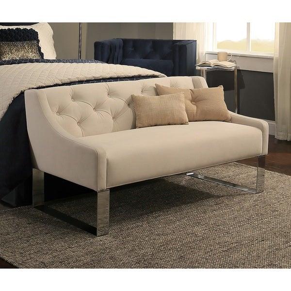 Republic Design House Peyton Ivory Tufted Upholstered Headboard - Tufted upholstered sofa