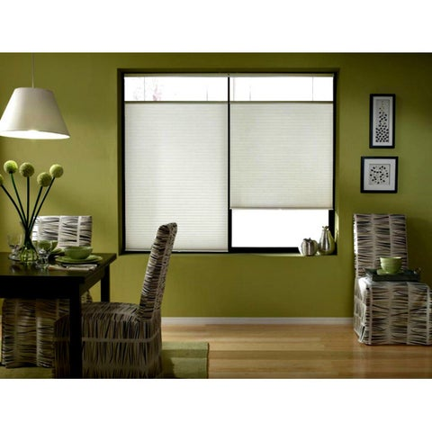 First Rate Blinds Cool White 20 to 20.5-inch Wide Cordless Top Down Bottom Up Cellular Shades