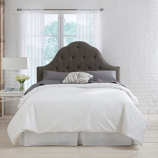 Skyline Furniture Slate Linen Arch Tufted Headboard