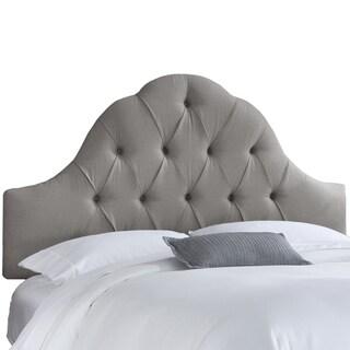 skyline furniture arch tufted headboard in velvet light grey, Headboard designs