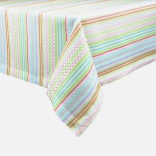 Easter Zigzag Stripe Tablecloth