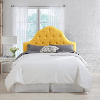 Skyline Furniture French Yellow Linen Arch Tufted Headboard (5 options available)