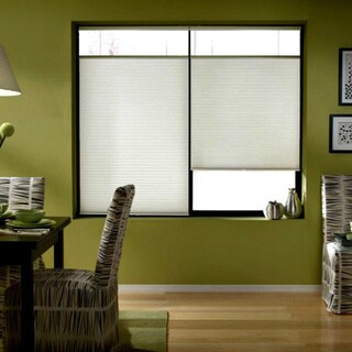First Rate Blinds Cool White 25 to 25.5-inch Wide Cordless Top Down Bottom Up Cellular Shades