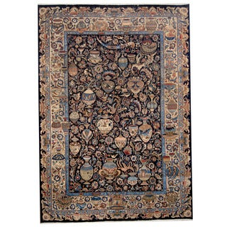 Herat Oriental Persian Hand-knotted Kashmar Wool Rug (8' x 11'5)