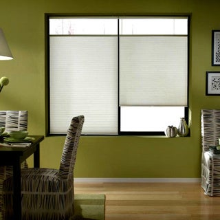Cool White 26 to 26.5-inch Wide Cordless Top Down Bottom Up Cellular Shades