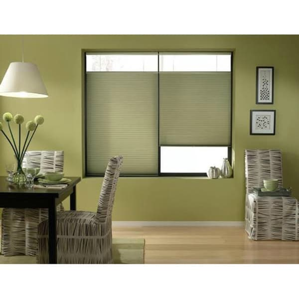 Cordless top down bottom up bay leaf cellular shades 20 to for 20 inch window blinds