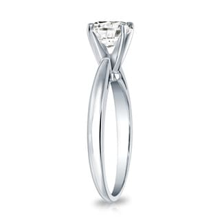 Auriya 18k Gold 3/4ct TDW Round-cut Diamond Solitaire Engagement Ring (I-J, SI2-SI3)