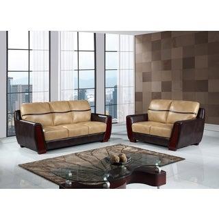 Sofa Ivory/Chocolate