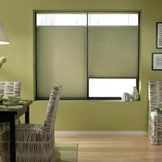 Bay Leaf 25 to 25.5-inch Wide Cordless Top Down Bottom Up Cellular Shades