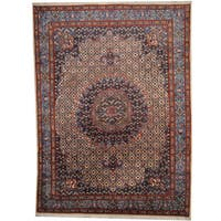 Herat Oriental Persian Hand-knotted 1960s Semi-antique Moud Wool Rug (8'8 x 11'10) - 8'8 x 11'10