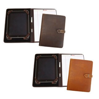 Canyon Outback Lee Canyon Leather Meeting Folder Media Holder (Option: Distressed Tan)