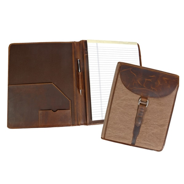 Canyon Outback Madera Canyon Leather and Canvas Business Organizer Folder. Opens flyout.