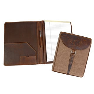 Canyon Outback Madera Canyon Leather and Canvas Business Organizer Folder