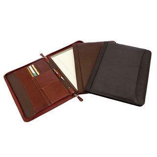 Canyon Outback Leather Oregon Canyon Zip-Around Leather Meeting Folder (Option: Black)