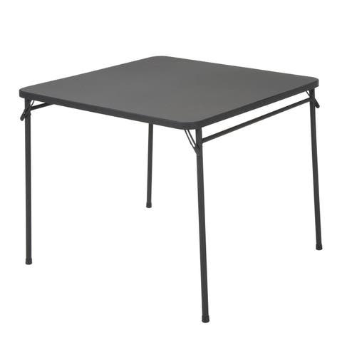 Cosco 34-inch PVC Top Black Folding Table