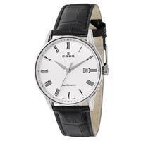 Edox Men's 70172-3A-AR Leather Watch