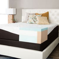 ComforPedic from Beautyrest Choose Your Comfort 12-inch Gel Memory Foam Mattress Set - Brown