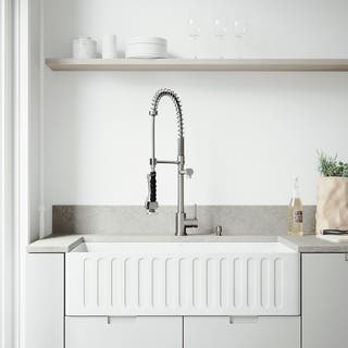 VIGO All-In-One 36 Matte Stone Farmhouse Kitchen Sink Set With Zurich Faucet In Stainless Steel|https://ak1.ostkcdn.com/images/products/11460460/P18417970.jpg?impolicy=medium