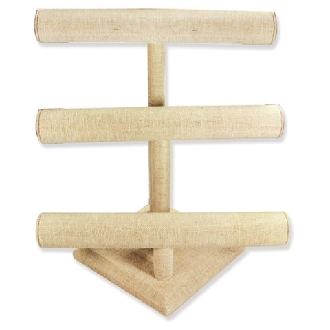 Linen Three-Tier T-Bar Display