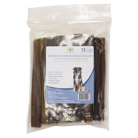 """Pet's Choice 6-inch Odorless Premium Dog Bullies - 12"""" - Multi"""