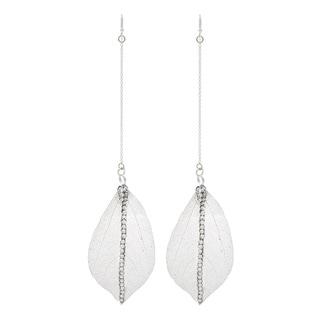 NEXTE Jewelry Brass Filigree Leaf Long Dangle Earrings