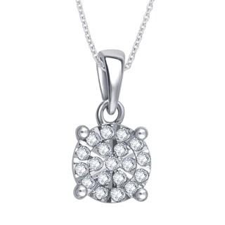 Divina Sterling Silver 1/6ct TDW Diamond Fashion Pendant (I-J, I2-I3)
