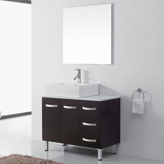 Virtu USA Tilda 36-inch Single Bathroom Vanity Cabinet Set in Espresso