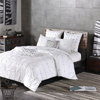 INK+IVY Masie White Cotton Duvet Cover Set (2 options available)