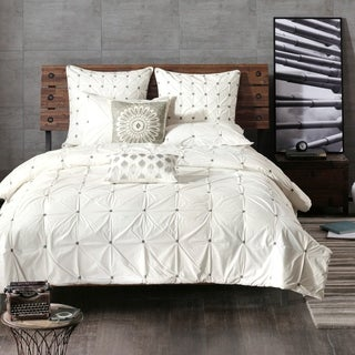 INK+IVY Masie White Cotton Duvet Cover Set