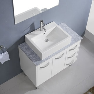 Virtu USA Tilda 36-inch Single Bathroom Vanity Cabinet Set in White