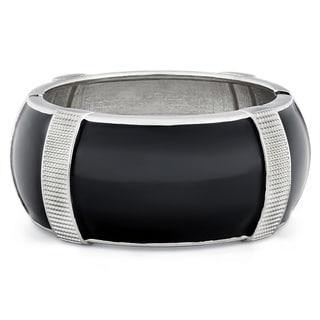 Divina Fitbit Black Enamel Zinc Alloy Bracelet