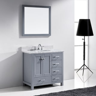 Virtu usa caroline parkway 36 inch grey single bathroom Virtu usa caroline 36 inch single sink bathroom vanity set
