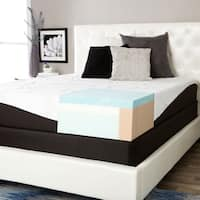 ComforPedic from Beautyrest Choose Your Comfort 10-inch Gel Memory Foam Mattress Set - White