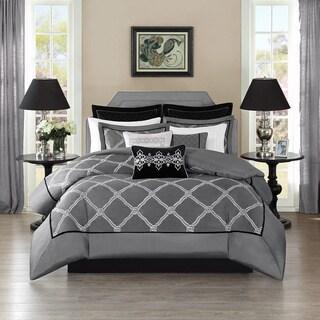 Bombay Oversized Luxury Teramo Grey Comforter Set