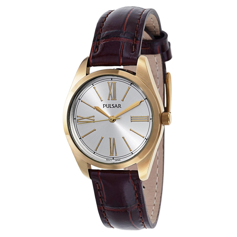 PULSAR Women's PG2012 Leather Watch (Watch), Silver-Tone,...