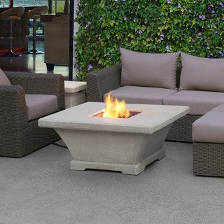 Real Flame Monaco Low Square Cream Fire Table