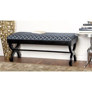 Wood Fabric Bench